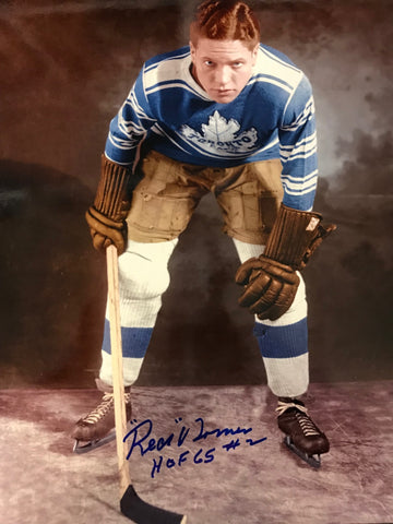 Red Horner Autographed 8x10 Photo Toronto Maple Leafs