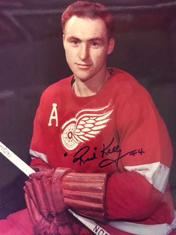Red Kelly Autographed 8x10 Photo Detroit Red Wings