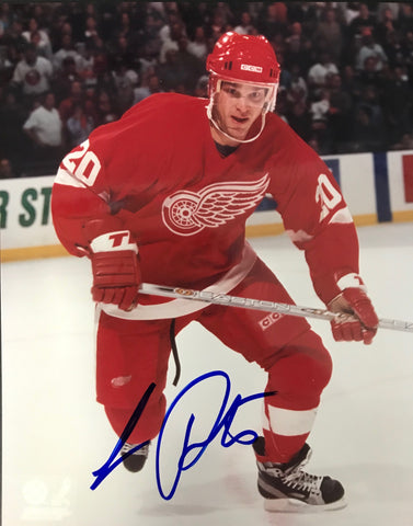 Luc Robitaille  Autographed 8x10 Photo Detroit Red Wings