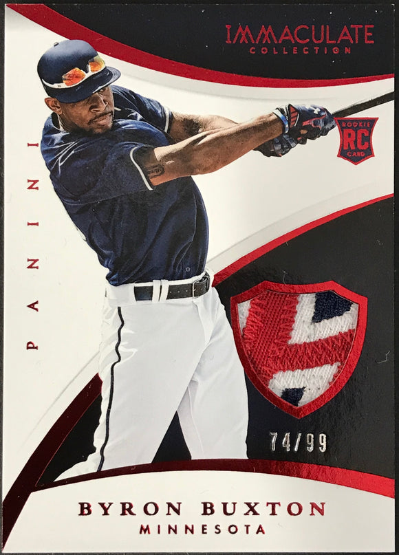 Byron Buxton Unsigned 2015 Panini Immaculate Jersey Card