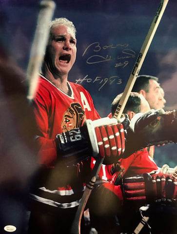 Bobby Hull HOF 1983 Autographed 16x20 Photo