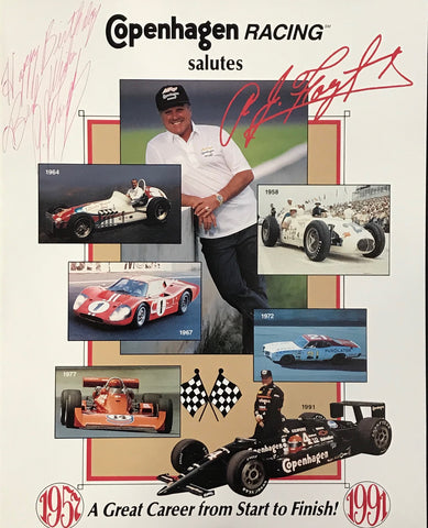 A.J. Foyt Autographed 8x10 Copenhagen Racing Photo