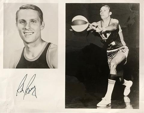 Rick Barry Autographed 8x10 Black and White Photo