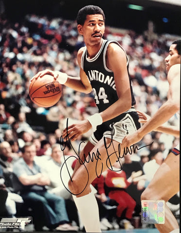 George Gervin Autographed 8x10 Photo