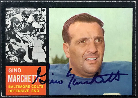 Gino Marchetti Autographed 1962 Topps Card