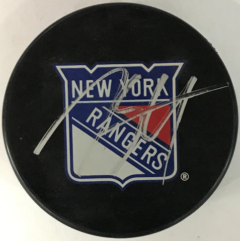 Marc Staal Autographed New York Rangers Puck
