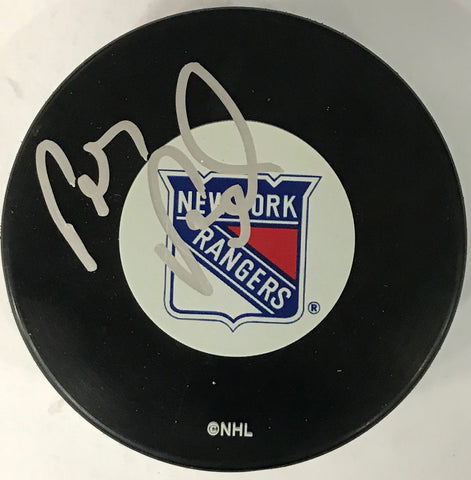 Petr Prucha Autographed New York Rangers Puck