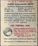 Jame Callahan Hefti 1948 Bowman Football Card No 76