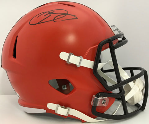 Odell Beckham Autographed Cleveland Browns Replica Speed Helmet