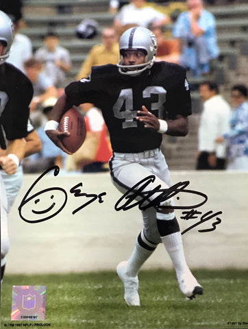 George Atkinson Autographed 8x10 Photo Oakland Raiders