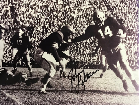 Johnny Lattner Autographed 8x10 Photo Notre Dame Fighting Irish