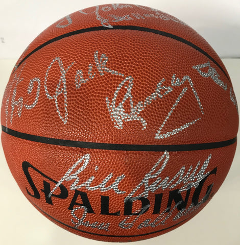 Hall of Famers Autographed Official Leather Spalding Basketball