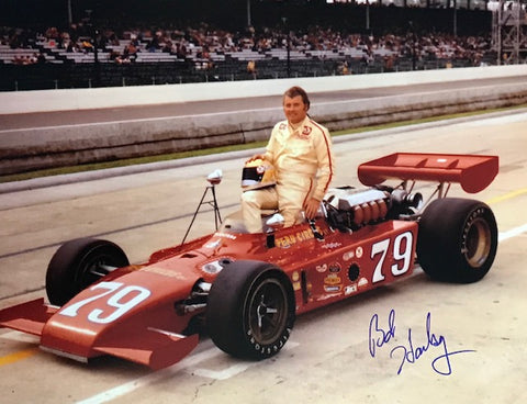Bob Harkey Autographed 8x10 Racing Photo