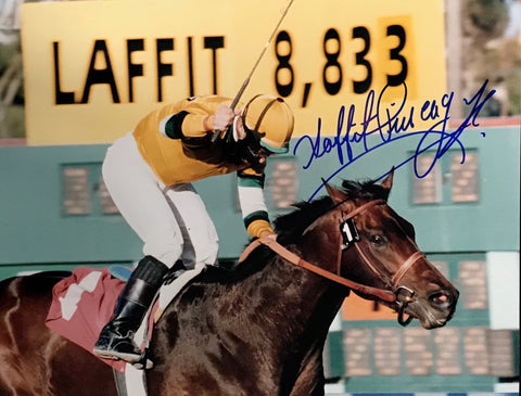 Laffit Pincay Jr Autographed 8x10 Racing Photo