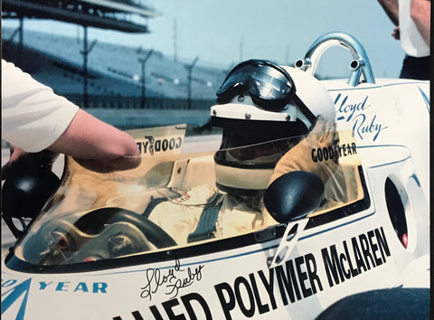 Lloyd Ruby Autographed 8x10 Racing Photo