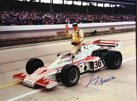 Jerry Sneva Autographed 8x10 Racing Photo