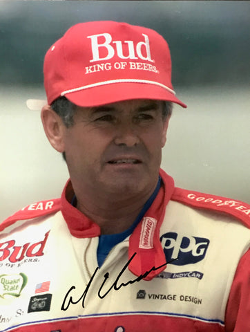 Al Unser Autographed 8x10 Racing Photo