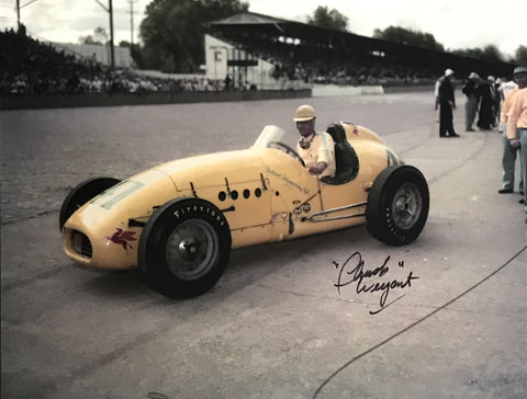 Chuck Weyant Autographed 8x10 Racing Photo