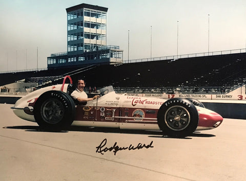 Rodger Ward Autographed 8x10 Racing Photo