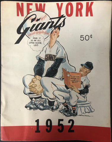New York Giants 1952 MLB Baseball Yearbook