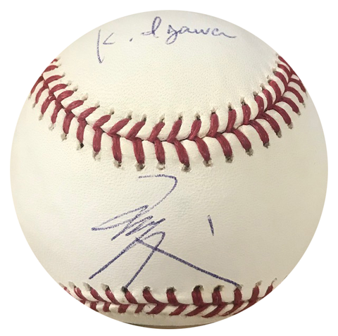 Kei Igawa Autographed Official Major League Baseball (UDA)