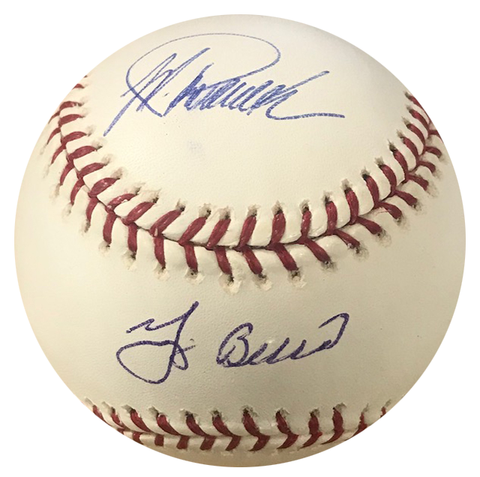 Jorge Posada & Yogi Berra Autographed Official Major League Baseball (Steiner)