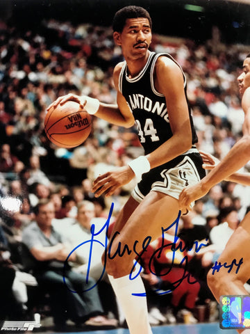 George Gervin Autographed 8x10 Basketball Photo