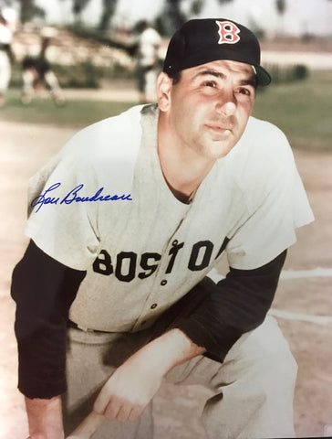 Lou Boudreau Autographed 8x10 Baseball Photo
