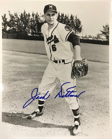 Jack Ditmar Autographed 8x10 Black & White Baseball Photo