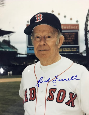 Rick Ferrell Autographed 8x10 Baseball Photo - Boston Red Sox