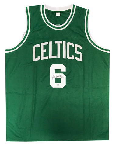 Bill Russell Autographed Green Boston Celtics Jersey