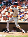 Jim Gantner Autographed 8x10 Baseball Photo
