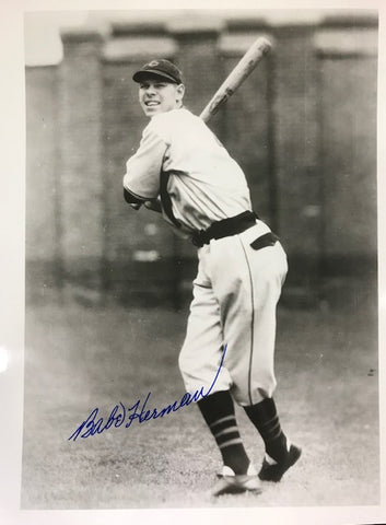 Babe Herman Autographed 8x10 Black & White Photo