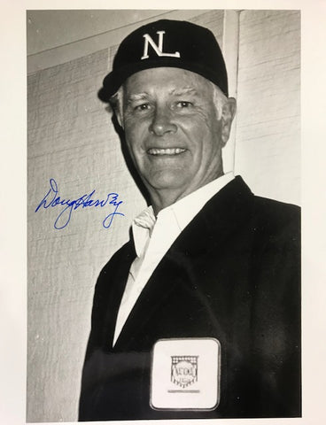 Doug Harvey Autographed 8x10 Black & White Baseball Photo
