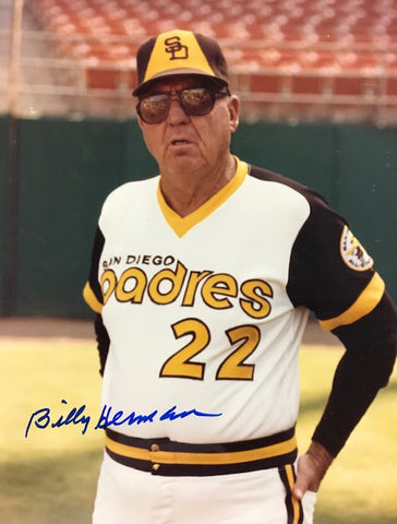Billy Herman Autographed 8x10 Baseball Photo