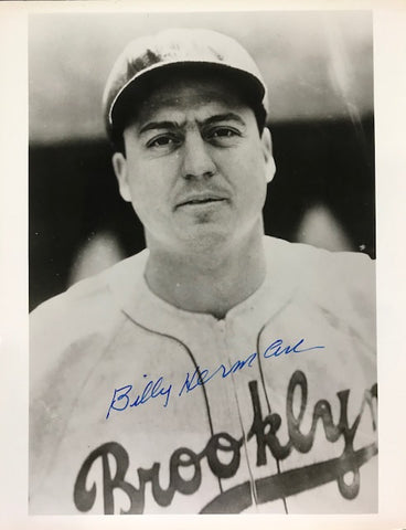 Billy Herman Autographed 8x10 Black & White Baseball Photo