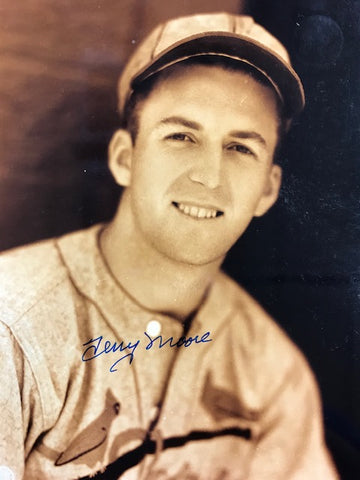 Terry Moore Autographed 8x10 Sepia Tone Baseball Photo