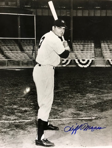 Cliff Mapes Autographed 8x10 Black & White Baseball Photo