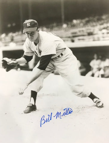 Bill Miller Autographed 8x10 Baseball Photo