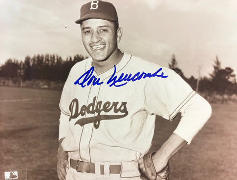 Don Newcombe Autographed 8x10 Sepia Tone Baseball Photo