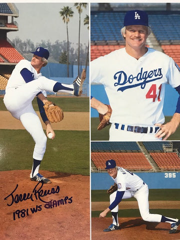 Jerry Reuss Autographed 8x10 Baseball Photo