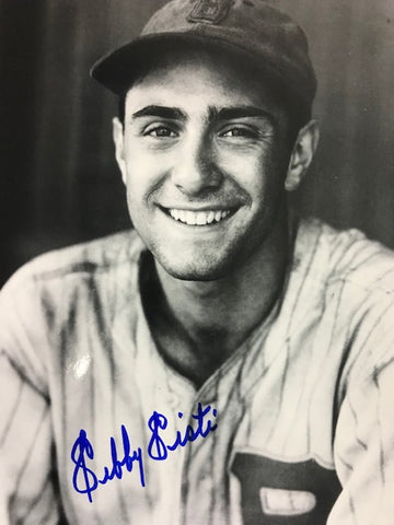 Sibby Sisti Autographed Black & White 8x10 Baseball Photo