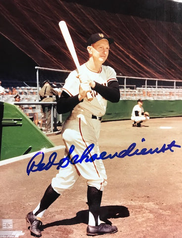 Red Schoendienst Autographed 8x10 Baseball Photo