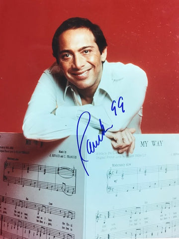 Paul Anka Signed 8x10 Celebrity Photo