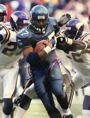 Shaun Alexander Autographed 8x10 Football Photo