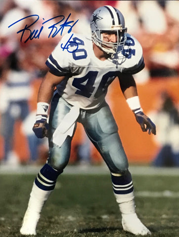 Bill Bates Autographed 8x10 Football Photo