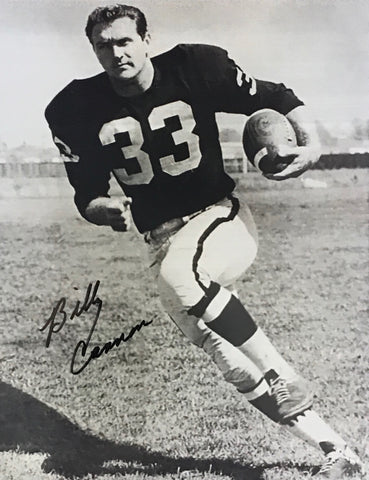 Billy Cannon Autographed 8x10 Black & White Football Photo