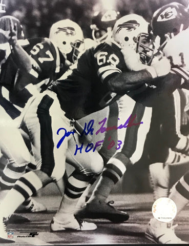 Joe DeLamielleure Autographed 8x10 Football Photo