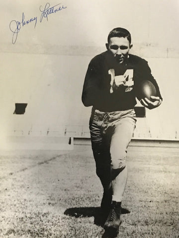 Johnny Lattner Autographed 8x10 Football Photo