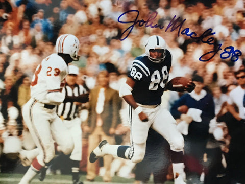 John Mackey Autographed 8x10 Football Photo